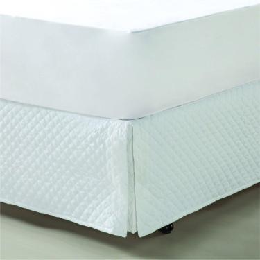 Imagem de Saia Para Cama-Box King De Matelassê Branca