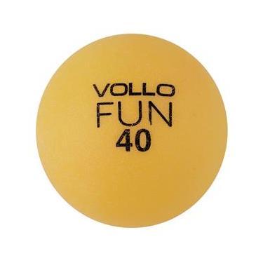 Bola Tênis de Mesa Vollo Sports em PVC com 100 Unidades – Laranja