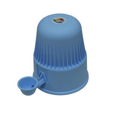 Bebedouro Vida Mansa Light Polipropileno PP Azul Bebê para Raças Pequenas - 2 L