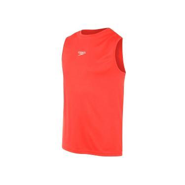 Speedo Camiseta Sem Manga Interlock Masculino Vermelho G