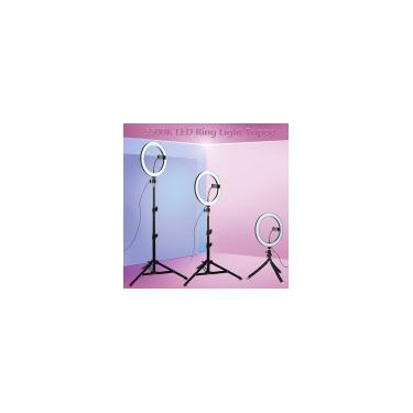 120 LED Selfie Ring Light Fotografia Iluminação Dimmable Tripod Stand Lights