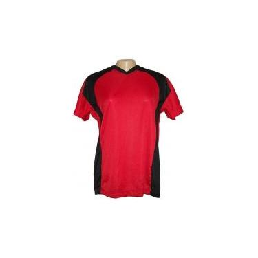 Jogo de Camisa Feminino Modelo Porto Tamanho G - Vermelho Preto com 10  unidades - Frete Grátis Brasil + Brindes 26dcc53399530