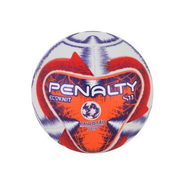 Bola de Futebol de Campo Penalty S11 Ecoknit Pró FPF IX - BRANCO LARANJA  Penalty adfbe5afa97c9