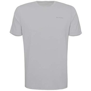 Camiseta Columbia Neblina Manga Curta Masculina -Cinza M