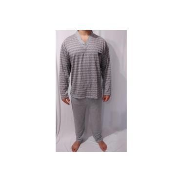 Pijama Masculino Fechado De Malha Inverno Longo