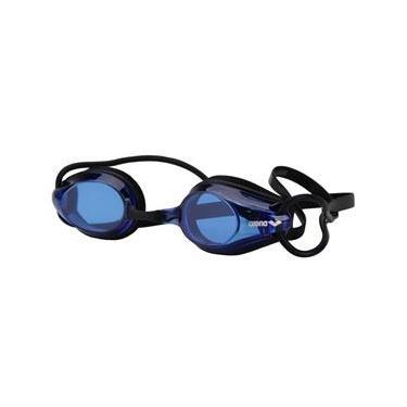 Óculos de natação Arena Tracks Racing Preto e Azul