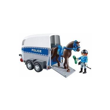Playmobil Carro Policia Montada Com Trailer - Sunny