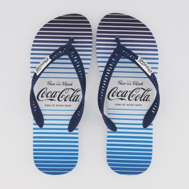Chinelo Coca Cola Skylight Branco e Azul - 41-42