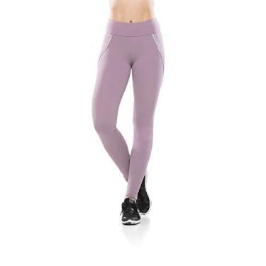 Calça Legging Fitness Zíper Reflect Confort - Lilás Calça Leggings Fitness Zíper Reflect Confort - Lilás - G