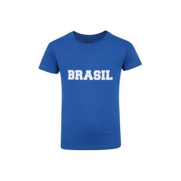 adf7a2c60e Camiseta do Brasil Fan 2018 nº 10 Adams - Infantil - AZUL Adams