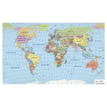 0245265539 Mapa Mundi político imantado 55 Artigianato