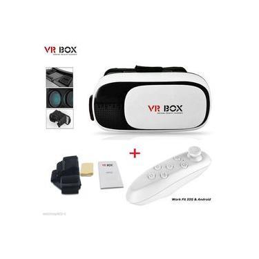 Oculos 3D com Controle Bluetooth para Filmes Jogos Game de Realidade Virtual (VR BOX)