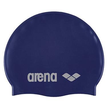 Arena Touca Classic Silicone, Azul Denim/ Prata