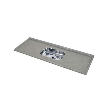 Pia de Cozinha Decoralita Granito Sintético com Bojo em Inox 150cm X 54cm Cinza Real