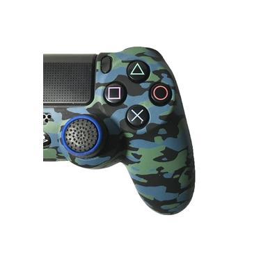 Kit Capa e Control Freak para Controle de PS4 - Azul Camuflado