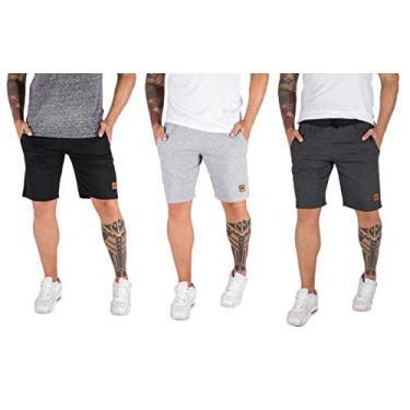 Kit Com 3 Bermudas Shorts Moletom Masculinas Casual Malhação Tamanho:38;