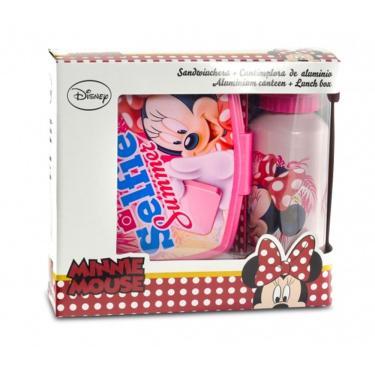 Kit Lanche Disney Lancheira + Garrafa Minnie DTC - Vermelho