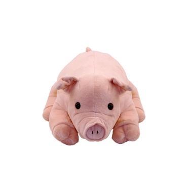 Imagem de Porco Rosa Deitado 47cm - Pelúcia