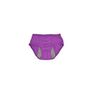 Menstrual Período Menstrual Das Mulheres Cuecas Sem Costura Calcinha Roxa L