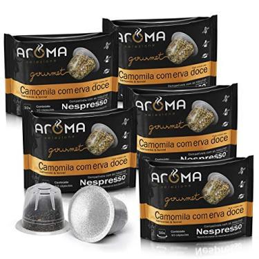 Kit Cápsulas de Chá Camomila com Erva- Doce Aroma - Compatíveis com Nespresso® - 50 un.