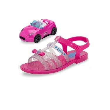 Kit Sandália Barbie + Carro Rosa Grendene Kids - 22166