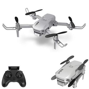 Imagem de Drone RC com Câmera 4K, Baugger H1 RC Drone Mini Drone para Crianças Quadcóptero dobrável com Função Auto Hover Headless Mode 360 ° Rotação One Key Takeoff Landing