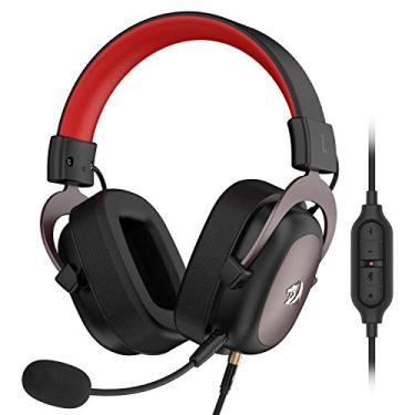 Imagem de Headset Gamer Redragon Zeus Preto e Vermelho P2 Com Microfone PC e Consoles PS4 / Xbox- H510