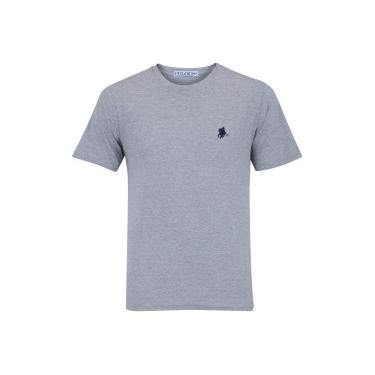 cd992d99fc Camiseta Polo US Gola Careca 606TSGCB - Masculina - CINZA AZUL ESC Polo Us