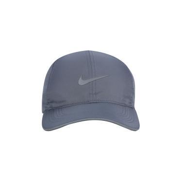 27e27189ad77a Boné Aba Curva Nike Featherlight Run - Strapback - Adulto - CINZA Nike