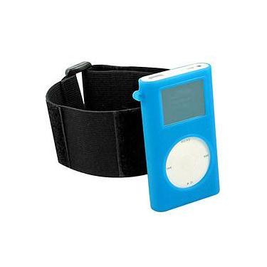 Capa de Silicone p/ iPod Mini c/ Braçadeira - Azul - Digicom