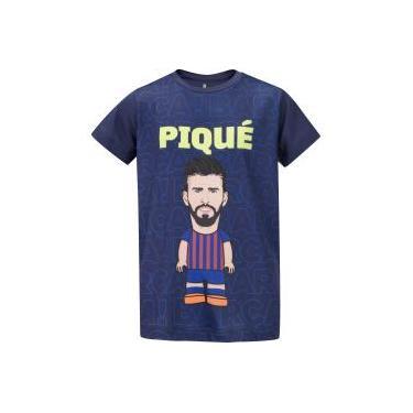 Camiseta Barcelona Piqué - Infantil Barcelona Unissex