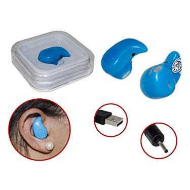 Mini Fone de Ouvido Bluetooth Atende Ligacao AZUL