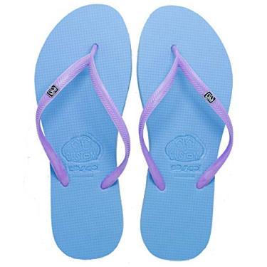 Chinelo Custom Pe'ahi Violet Feminino Cor:Azul Claro;Tamanho:33/34;Gènero:Mulher