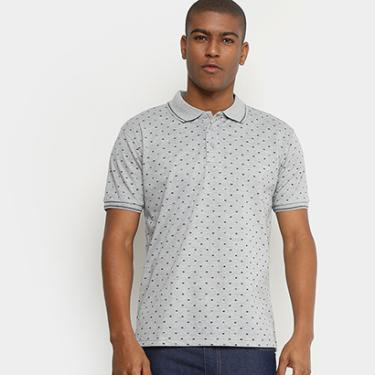 Camisa Polo Broken Rules Piquet Mini Estampa Escamas Masculina - Masculino 69b28357999
