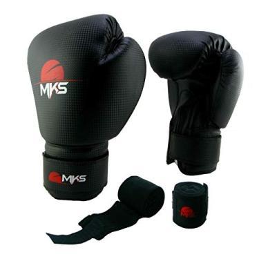 Kit Luva Boxe Muay Thai Prospect Mks Combat Preto + 1 Bandagem Preto 2 22f6ebc77b56d