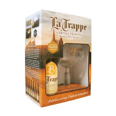 Kit Cerveja La Trappe Blond 1 Grf 330Ml + 1 Taça