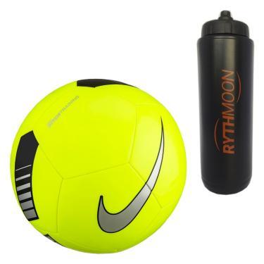 c8998ee73579a kit Bola de Futebol de Campo Pitch Training Nike SC3101 Amarelo Preto +  Squeeze Automático