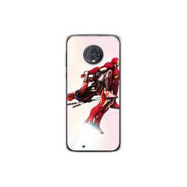 Capa para Moto G6 Play - Deadpool e Homem de Ferro