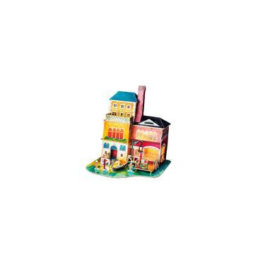 Casa De Bonecas Em Miniatura Kit De Móveis Artesanal Mini Férias Villa Edifícios Brinquedo