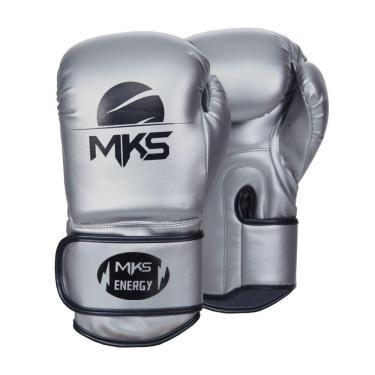 Luva De Boxe Mks Energy V2 Silver Prateada 16 Oz