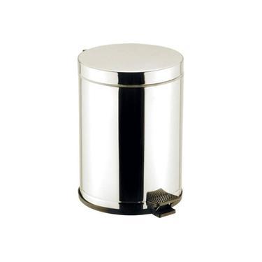 Lixeira Inox C/Pedal Recipiente Plástico 4,5 Lts - Viel