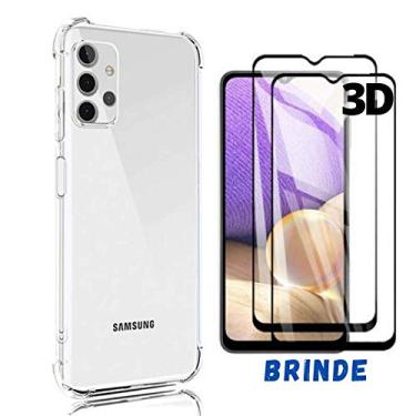Capinha Anti Queda Compatível Samsung A32 Tela 6.4 + Brinde Película Vidro 3D Cobre 100% Tela
