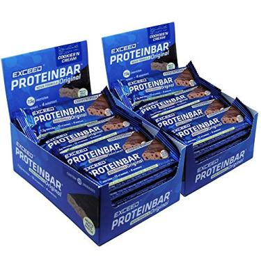 Kit Barra de Proteína Exceed Protein Bar Original Cookies n'Cream C/ 2 displays c/ 40 barras de 25 g