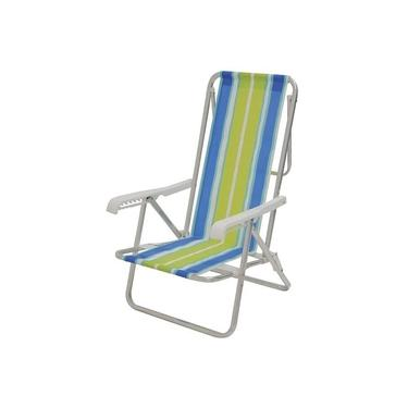Cadeira Praia de Alumínio Reclinável 8 Posições Mor