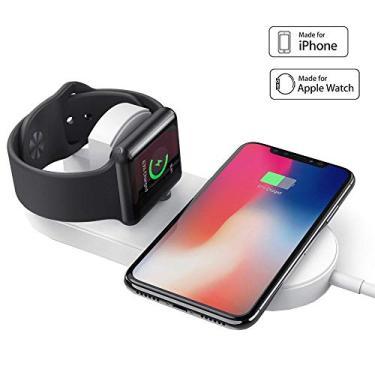 Carregador Sem Fio Wireless Qi Magnético 2 em 1 Apple Watch e Iphone Air Power