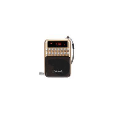 Rádio Portátil lcd Digital fm Mini Speaker USB Cartão tf Mp3 Player Fone De Ouvido Jack