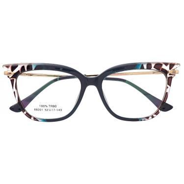 Imagem de Armação De Óculos Para Grau Feminina Gatinho Turquesa Azul