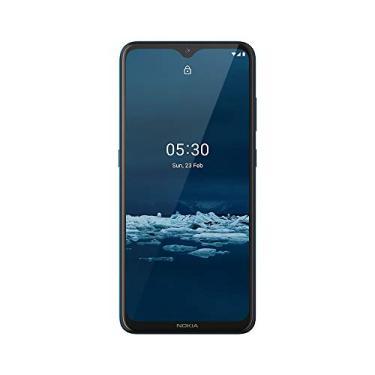Smartphone Nokia 5.3 128Gb Dual sim 4Gb Ram Tela 6,55 Pol. Câmera Quádrupla com Ia + Lentes Ultra-Wide Verde Ciano Nk009