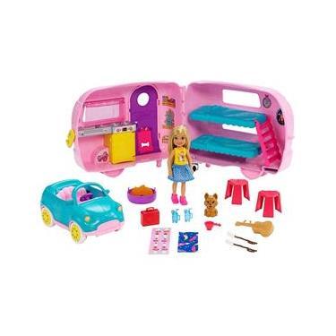 Boneca Barbie e Veículo - Trailer da Chelsea