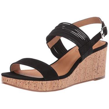 CC Corso Como sandália feminina Fantazie Wedge, Preto, 6.5